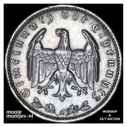 reichsmark - Germany-Third Reich 1934 A (KM 78) (kant B)