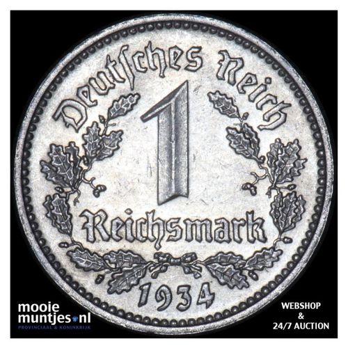 reichsmark - Germany-Third Reich 1934 D (KM 78) (kant A)