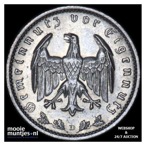 reichsmark - Germany-Third Reich 1934 D (KM 78) (kant B)