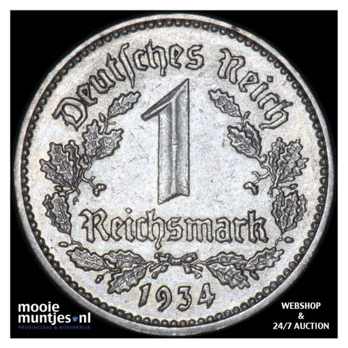 reichsmark - Germany-Third Reich 1934 E (KM 78) (kant A)