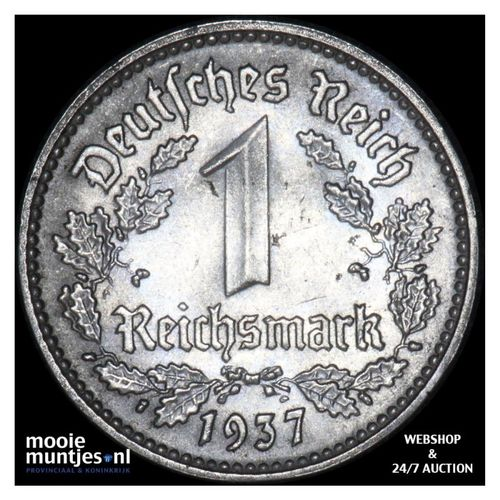 reichsmark - Germany-Third Reich 1937 D (KM 78) (kant A)