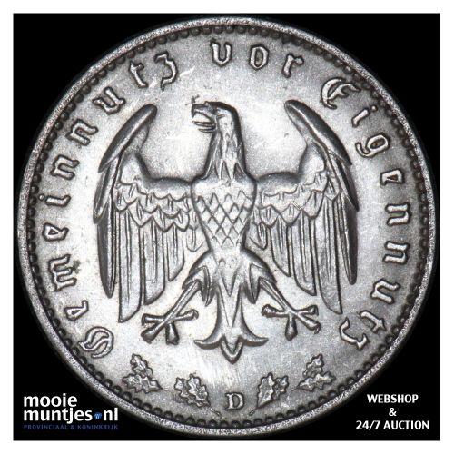 reichsmark - Germany-Third Reich 1937 D (KM 78) (kant B)