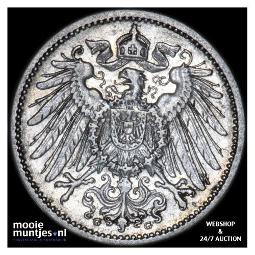 mark - Germany 1904 G (KM 14) (kant B)