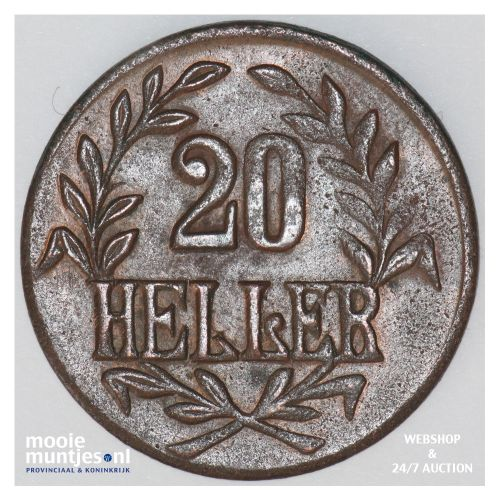 20 heller - German East Africa 1916 (KM 15) (kant B)
