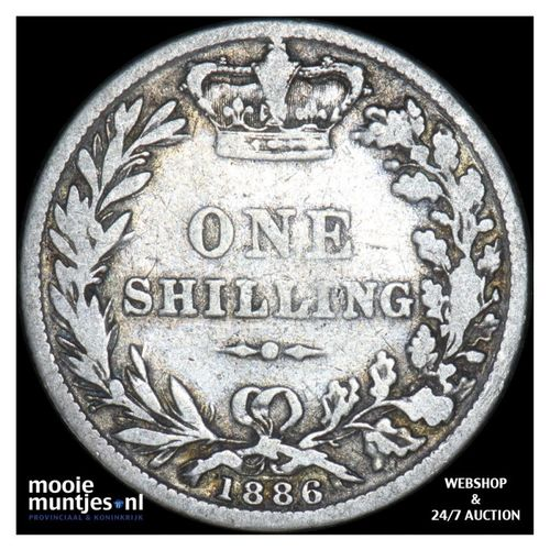 shilling - Great Britain 1886 (KM 734.4) (kant A)