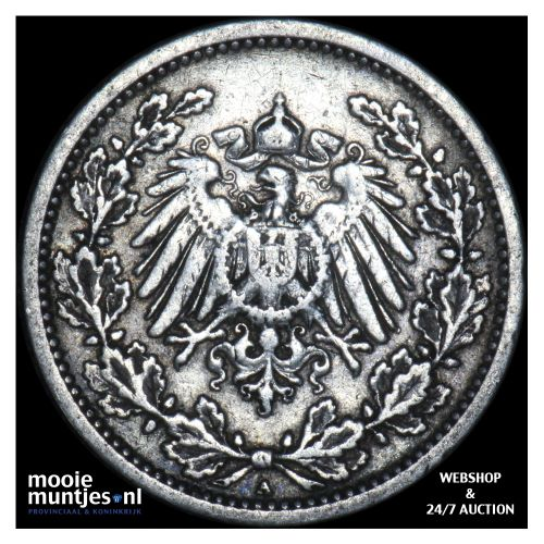 1/2 mark - Germany 1905 A (KM 17) (kant B)