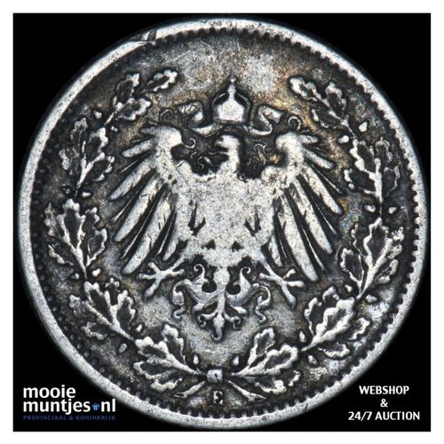 1/2 mark - Germany 1905 E (KM 17) (kant A)