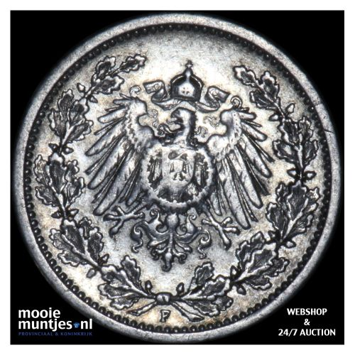 1/2 mark - Germany 1905 F (KM 17) (kant B)