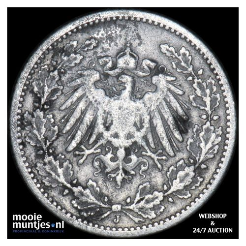 1/2 mark - Germany 1905 J (KM 17) (kant B)