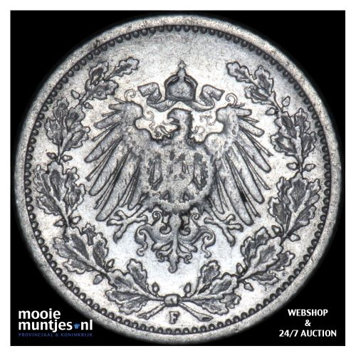 1/2 mark - Germany 1906 F (KM 17) (kant B)