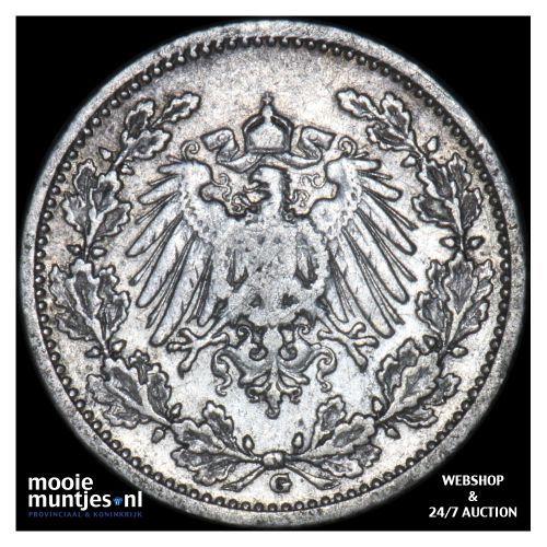 1/2 mark - Germany 1907 G (KM 17) (kant B)