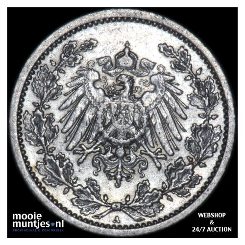 1/2 mark - Germany 1908 A (KM 17) (kant B)