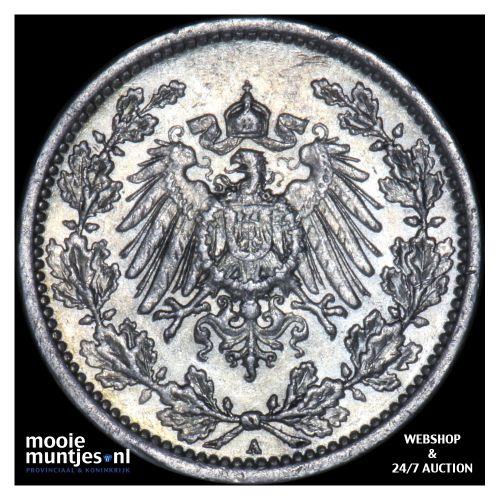 1/2 mark - Germany 1911 A (KM 17) (kant B)