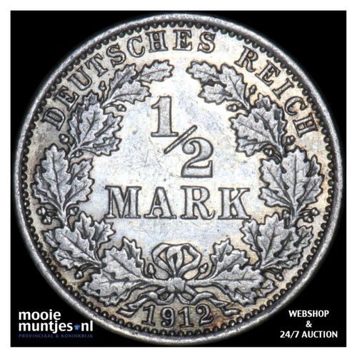 1/2 mark - Germany 1912 A (KM 17) (kant A)