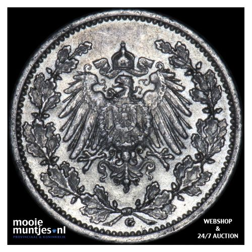 1/2 mark - Germany 1913 G (KM 17) (kant B)