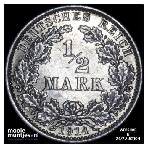 1/2 mark - Germany 1914 A (KM 17) (kant A)