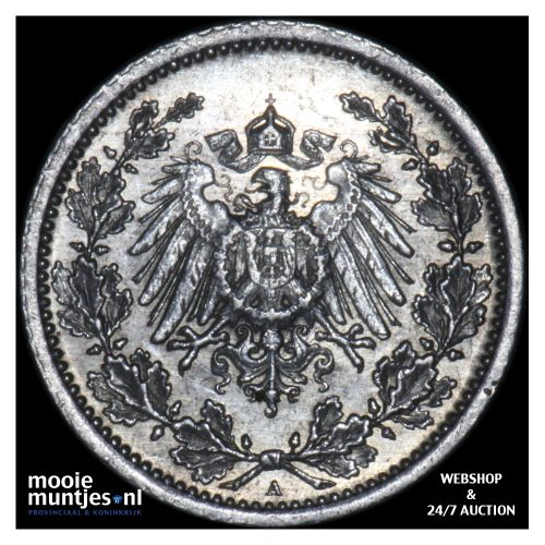 1/2 mark - Germany 1914 A (KM 17) (kant B)