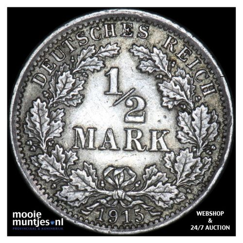 1/2 mark - Germany 1915 A (KM 17) (kant A)