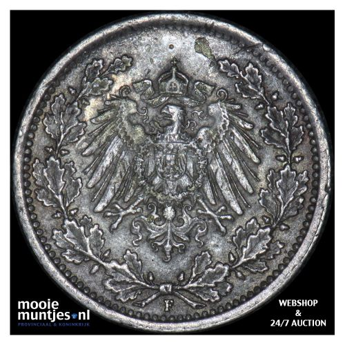 1/2 mark - Germany 1917 F (KM 17) (kant B)