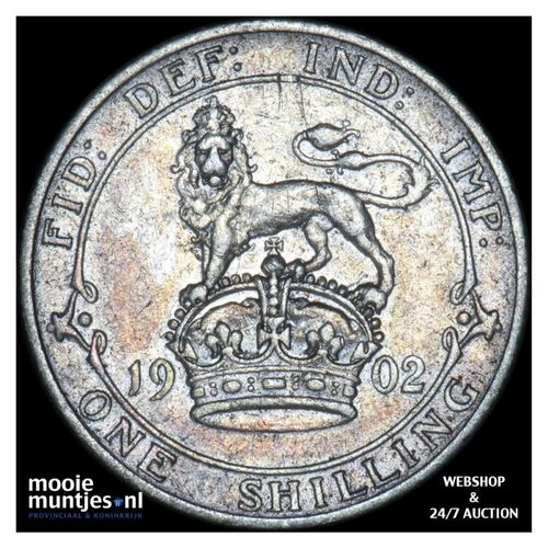 shilling - Great Britain 1902 (KM 800) (kant A)