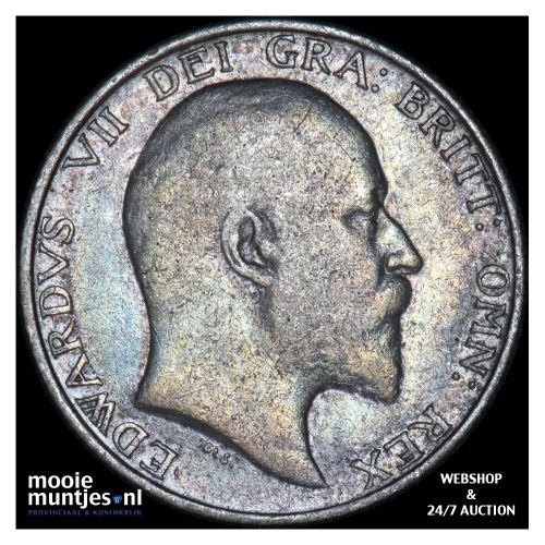 shilling - Great Britain 1902 (KM 800) (kant B)
