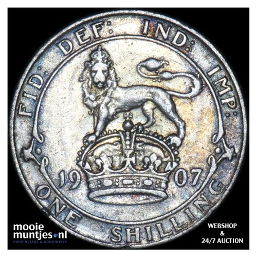 shilling - Great Britain 1907 (KM 800) (kant A)