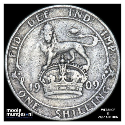shilling - Great Britain 1909 (KM 800) (kant A)