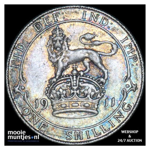 shilling - Great Britain 1911 (KM 816) (kant A)