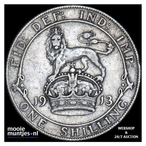 shilling - Great Britain 1913 (KM 816) (kant A)