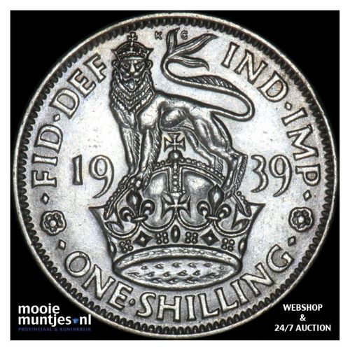 shilling - Great Britain 1939 (KM 853) (kant A)