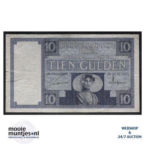 10 gulden  - 1924 (Mev. 39-2b / AV 28) (kant A)