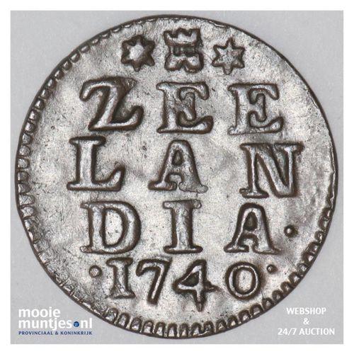 Zeeland - Duit - 1740 (kant A)