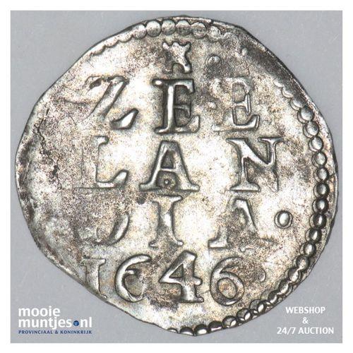 Zeeland - Dubbele stuiver - 1646 (kant A)