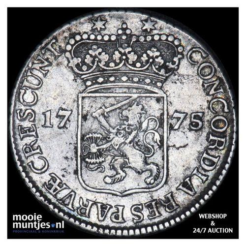 Zeeland - Halve zilveren dukaat - 1775 (kant A)