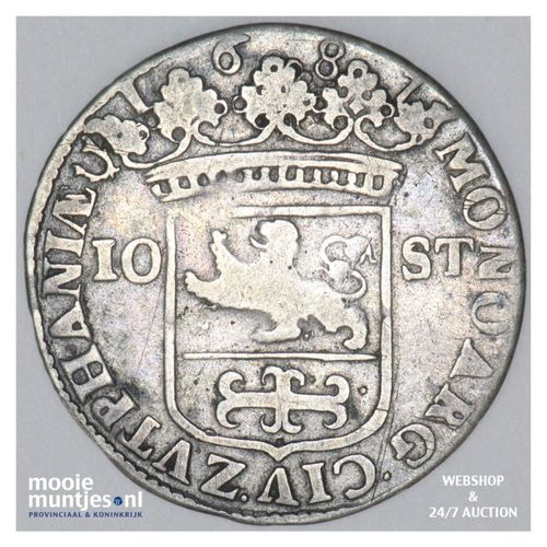 Zutphen - Stedelijke halve gulden - 1687 (kant A)