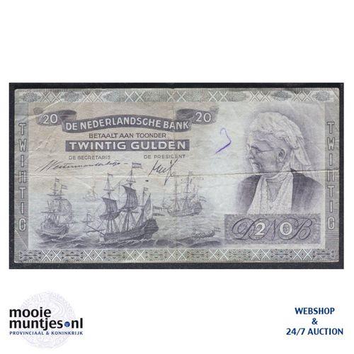 20 gulden - 1939 (Mev. 58-1 / AV 41) (kant A)
