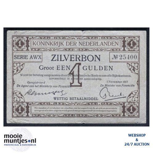 1 gulden - 1916 (Mev. 02-2b / AV 2) (kant A)
