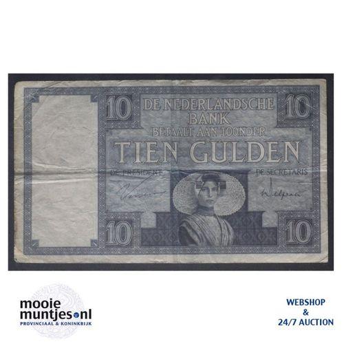 10 gulden  - 1924 (Mev. 39-3a / AV 28) (kant A)