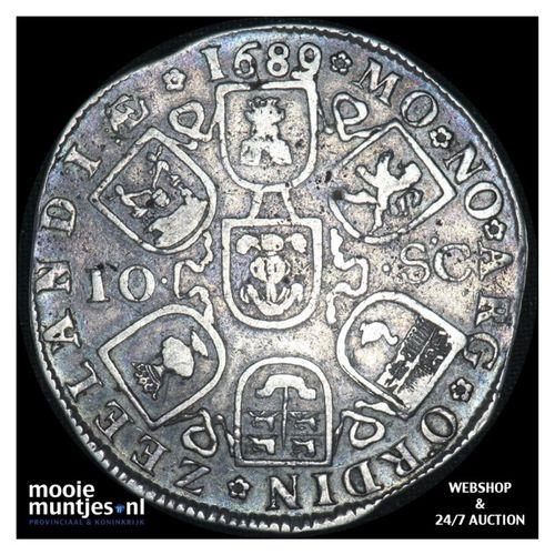 Zeeland - Dubbele daalder of 10 schelling - 1689 over 88 (kant A)
