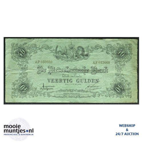 40 gulden - 1860 (Mev. 91-10 / AV 59) (kant A)