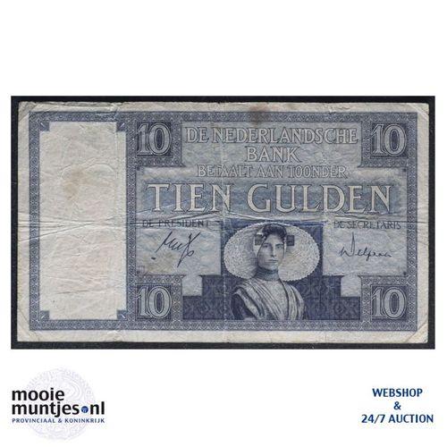 10 gulden  - 1924 (Mev. 39-5 / AV 28) (kant A)
