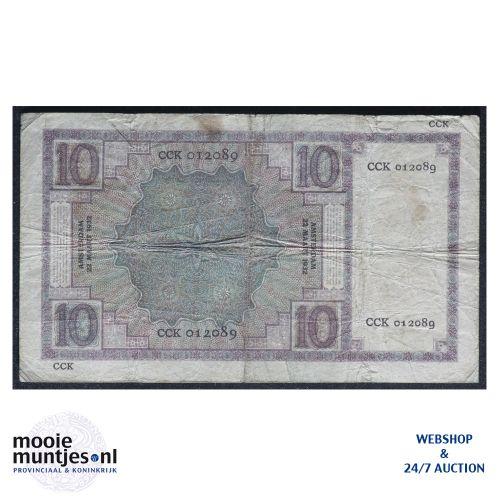 10 gulden  - 1924 (Mev. 39-5 / AV 28) (kant B)