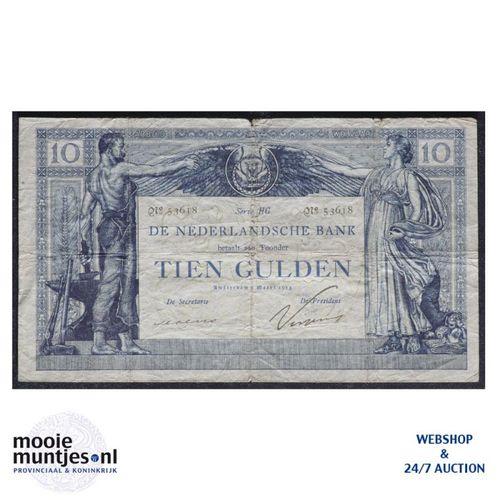 10 gulden  - 1904 (Mev. 36-3b / AV 25) (kant A)