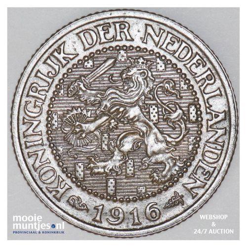 2½ cent - Wilhelmina - 1916 (kant A)
