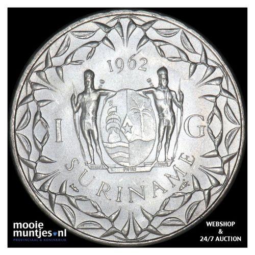 Suriname (koninkrijk)  - 1 gulden - 1962 (kant A)
