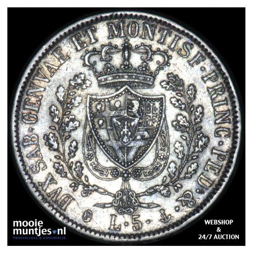 5 lire - mainland reform coinage - Italian States/Sardinia 1830 (KM 116.2) (kant