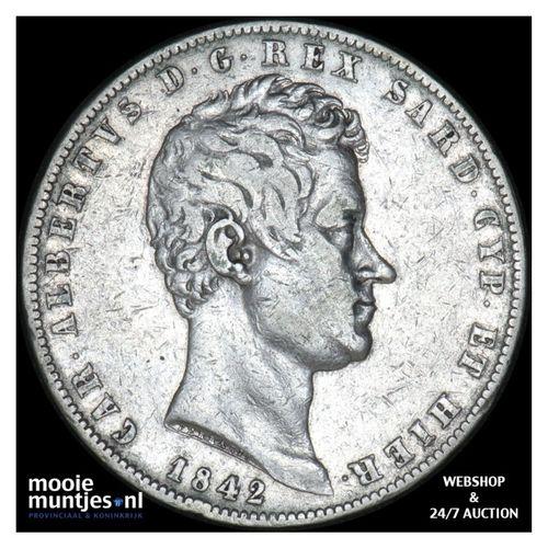 5 lire - mainland reform coinage - Italian States/Sardinia 1842 (KM 130.2) (kant