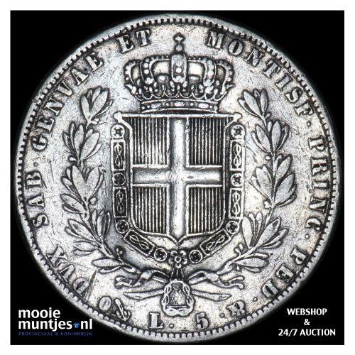 5 lire - mainland reform coinage - Italian States/Sardinia 1844 (KM 130.2) (kant