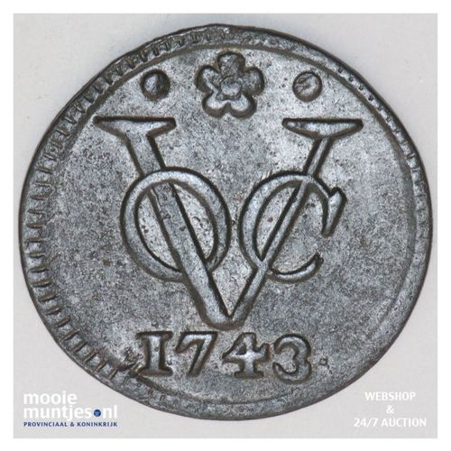 VOC duit - Holland - Netherlands East Indies 1743 (KM 70) (kant A)