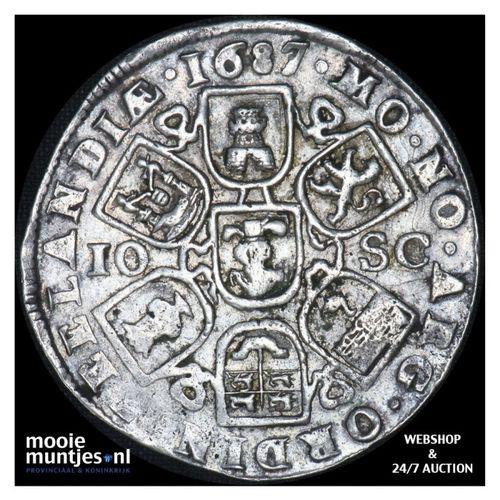 Zeeland - Dubbele daalder of 10 schelling - 1687 (kant A)